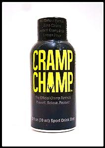 Cramp Champ - Muscle Cramp relief, natural sports drink shot. For calf, leg, foot etc- (6Pack) 2oz bottles