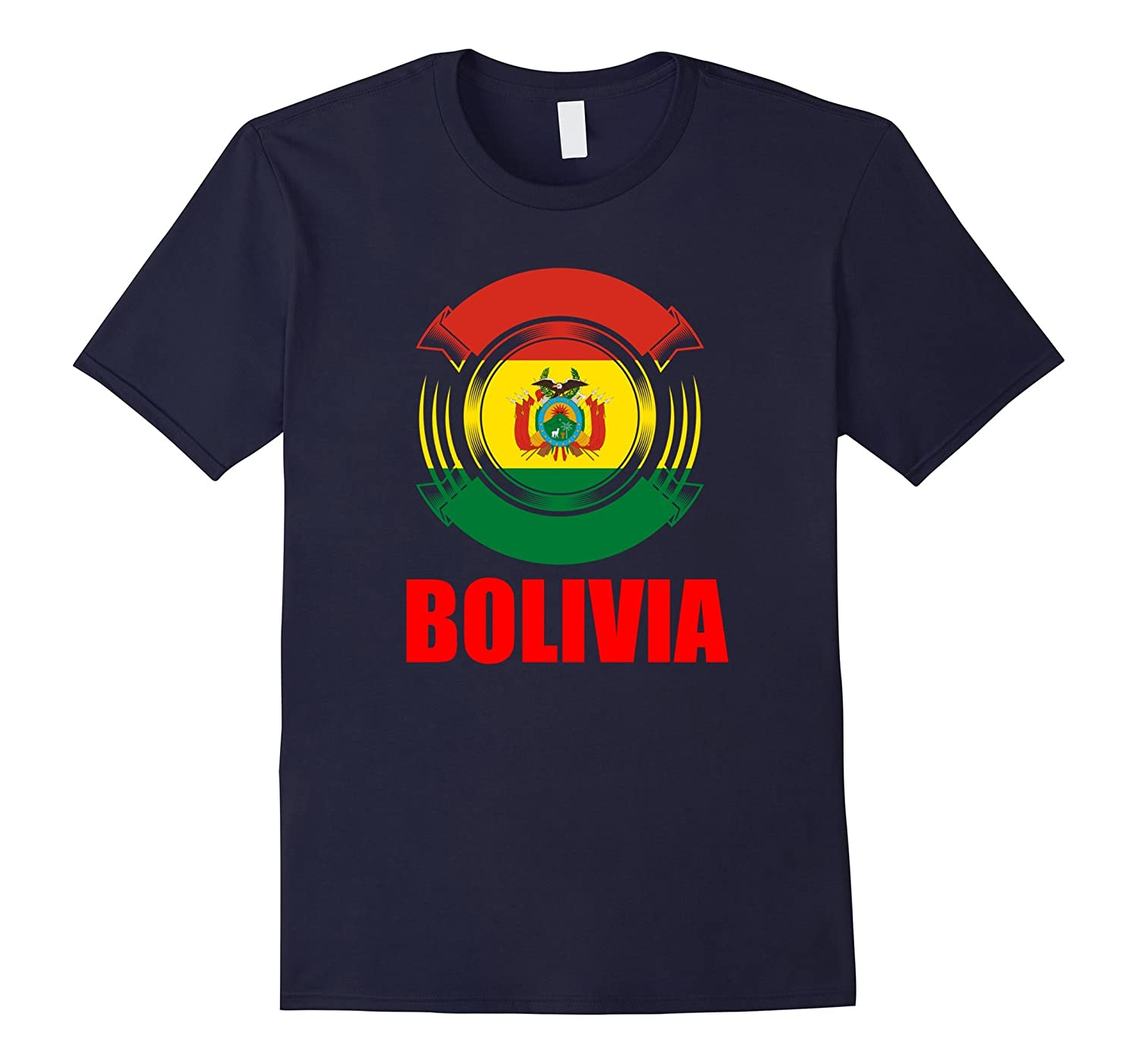 Bolivia Flag Badge Pride Gift T-Shirt-TH