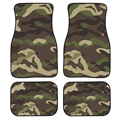 chaqlin Premium Full Set Carpet Car Mats Camo Floor Car Mats for SUV Sedan Truck Van Automotive Accessories: Automotive