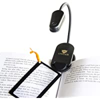 rosado USB recargable Luz para el cuidado de los ojos HONWELL L/ámpara de lectura con clip LED Luz de libro Luz de lectura para libros en la cama 2 configuraciones de brillo para protecci/ón ocular