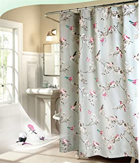 Bird Blossom Bathroom Shower Curtain Waterproof Polyester Fabric Decorative Liner For Home Traval