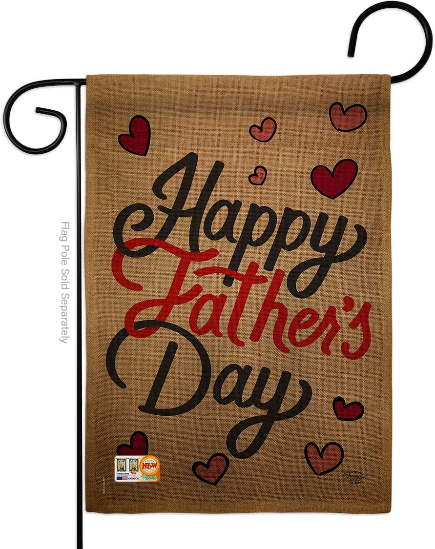 Ornament Collection Happy Father's Day Garden Flag Family Dad Daddy Papa Grandpa Best Parent Sibling Relatives Grandparent House Decoration Banner Small Yard Gift Double-Sided, 13