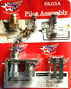 104 Plumbing Plus Universal Pilot Burner for Gas Appliances, MultiUse for Gas Water Heater Space Heater Fireplace Furnace, Easy Mount Heavy Duty Long Lasting, Pilot Assembly for Thermocouple