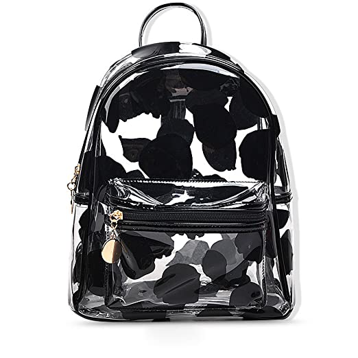 Image Unavailable. Image not available for. Color  PVC Backpack School  Backpack Outdoor Backpack Cute Knapsack Satchel ... 963ed2f5fdeae