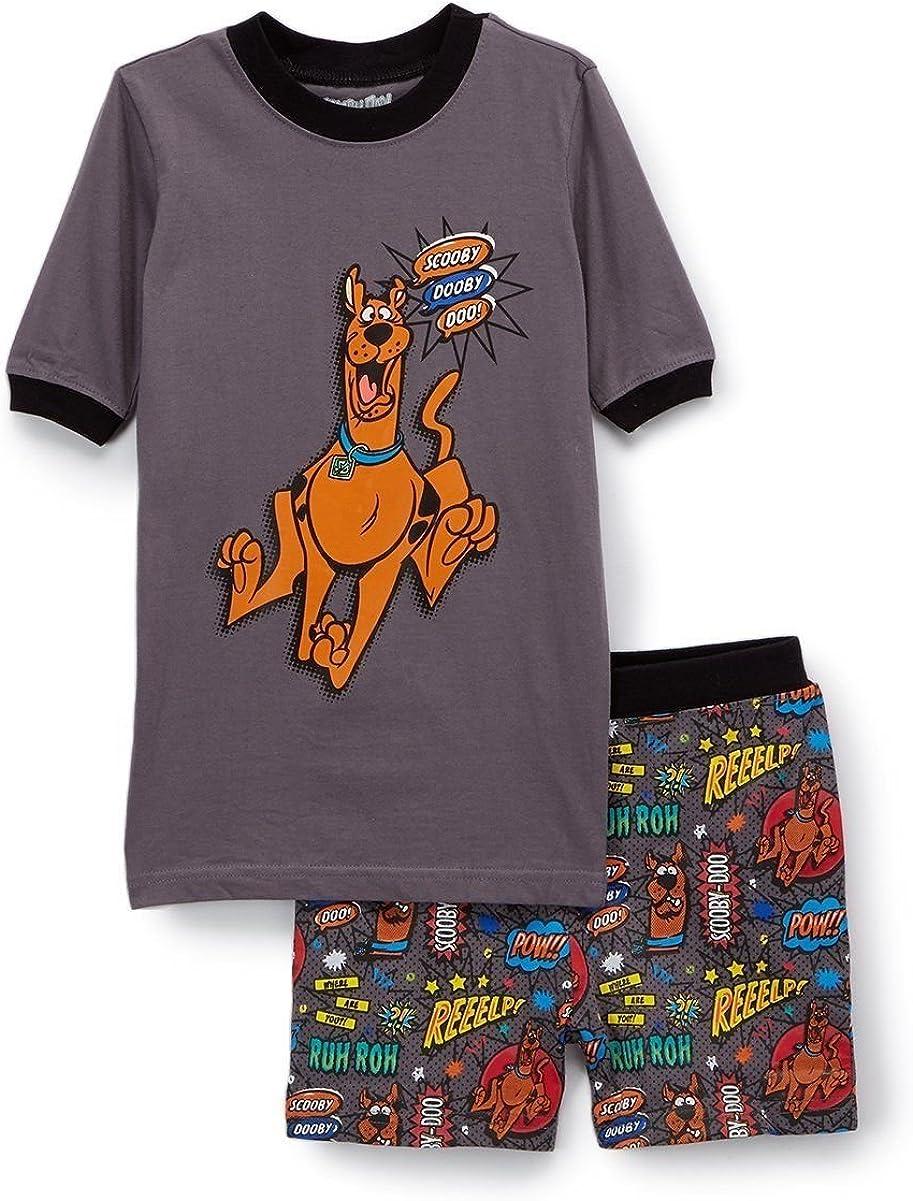 Boys Comic Pajama Shorts Set Hanna-Barbera Scooby Dooby Doo
