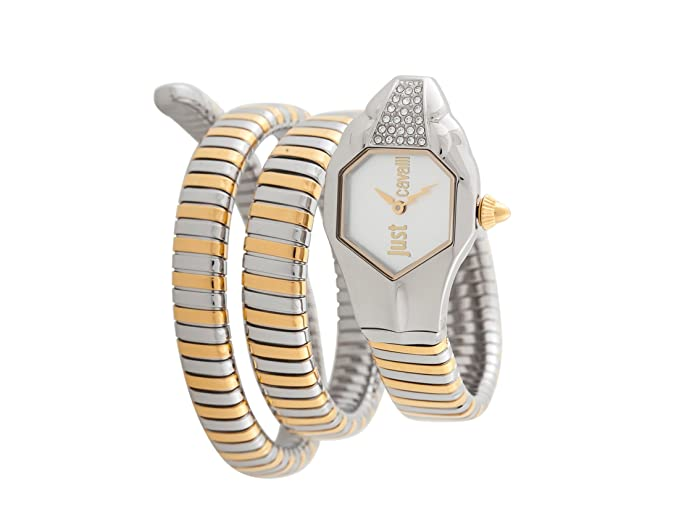 d9794bb521 Just Cavalli Womens Analogue Classic Quartz Watch with Stainless Steel  Strap JC1L022M0045  Amazon.co.uk  Watches