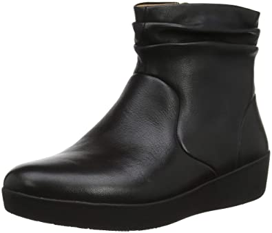 36b265ca0 Fitflop Women s Skatebootie-Leather Ankle Boots  Amazon.co.uk  Shoes ...