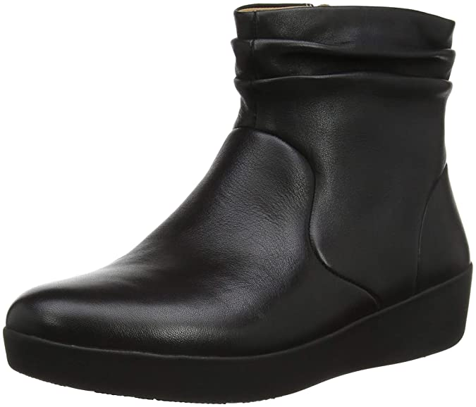 e371d696a854 Fitflop Women s Skatebootie-Leather Ankle Boots  Amazon.co.uk  Shoes   Bags