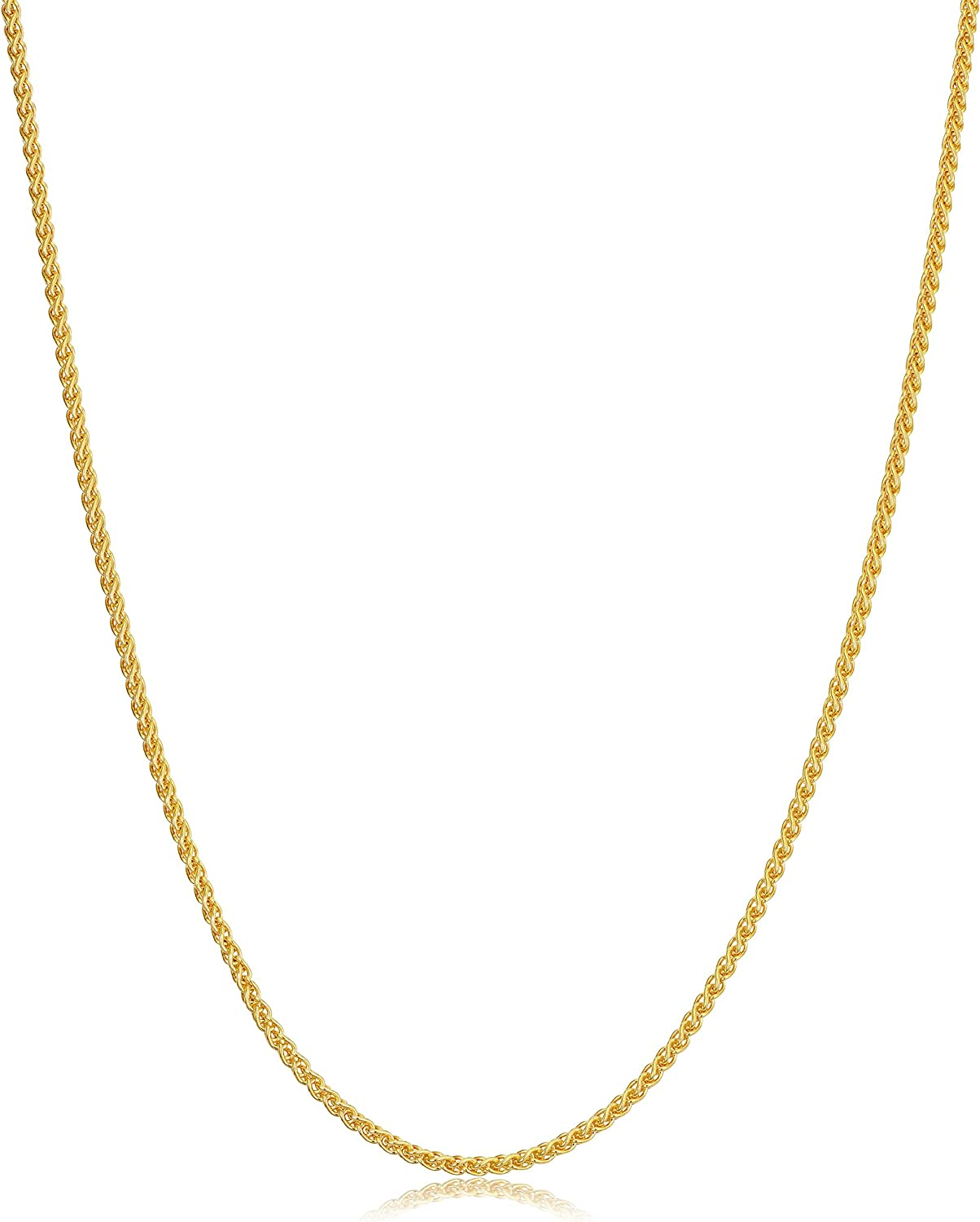 ROUND WHEAT CHAIN 14KT GOLD ROUND WHEAT CHAIN WITH LOBSTER LOCK 18 INCHES LONG