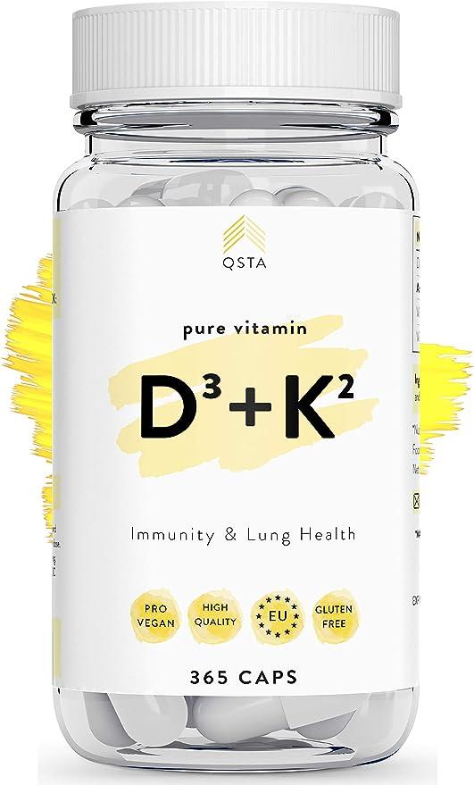 Vitamina D3 + K2 (365 DIAS) - Vitamina D + Vitamina K, Mejora el ...