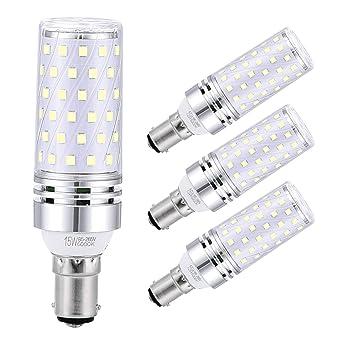 Sagel B15 LED Bombillas de Maíz 15W, 120W Bombillas Incandescentes Equivalente, 6000K Blanco Fresco