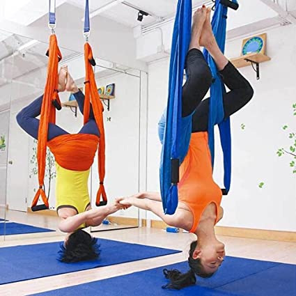 Sports & Entertainment Yoga Belts Original Yoga Gym Hanging Anti-gravity Yoga Hammock Swing Parachute Fabric Inversion Therapy High Strength Decompression Hammock