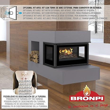 BRONPI Estufa DE LEÑA INSERTABLE Modelo PARIS-70 3C
