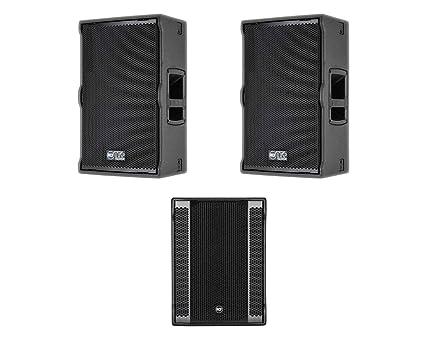 Amazon com: 2x RCF-TT22AMK2 + RCF SUB 8003-AS II Active Speaker