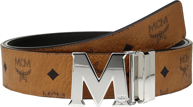 94e86c74d07a MCM Men s Silver M Buckle Reversible Belt  Amazon.co.uk  Clothing