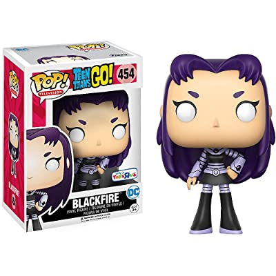 Funko Blackfire (Toys R Us Exclusive) POP! TV x Teen Titans Go Vinyl Figure + 1 Free Official DC Trading Card Bundle (11811): Toys & Games
