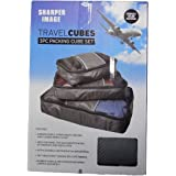Sharper Image Travel Cubes - 3 Pc Packing Cube Set - grey
