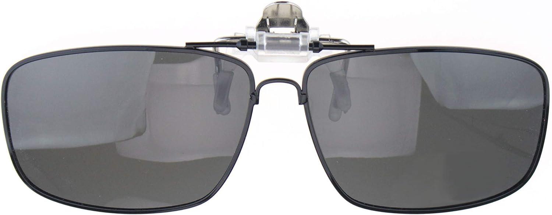 Anti-glare TAC Polarized Len Rectangular Clip On Sunglasses