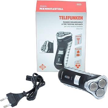 Afeitadora eléctrica recargable Telefunken ajuste Barba basette a ...