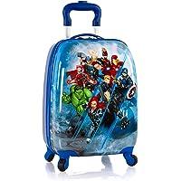 Marvel Avengers Hardside Spinner Rolling Luggage for Kids - 18 Inch(Blue)