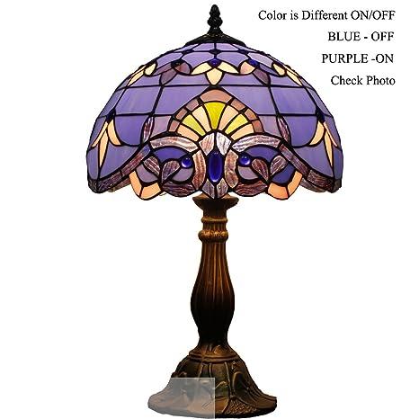 Blue purple baroque tiffany table lamp wide 12 height 18 inch for blue purple baroque tiffany table lamp wide 12 height 18 inch for bedside desk lamp aloadofball Choice Image