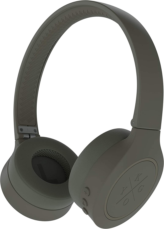 Kygo Life A4/300 | On-Ear Bluetooth Headphones, aptX Codecs, Built-in Microphone, Memory Foam Ear Cushions, 16 Hours Playback (Palm)