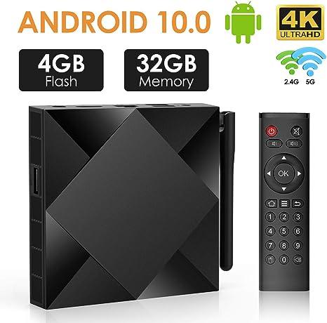 DOOK Android 10.0 TV Box 4G+32G TX6S 2020 El más Nuevo Smart TV Box