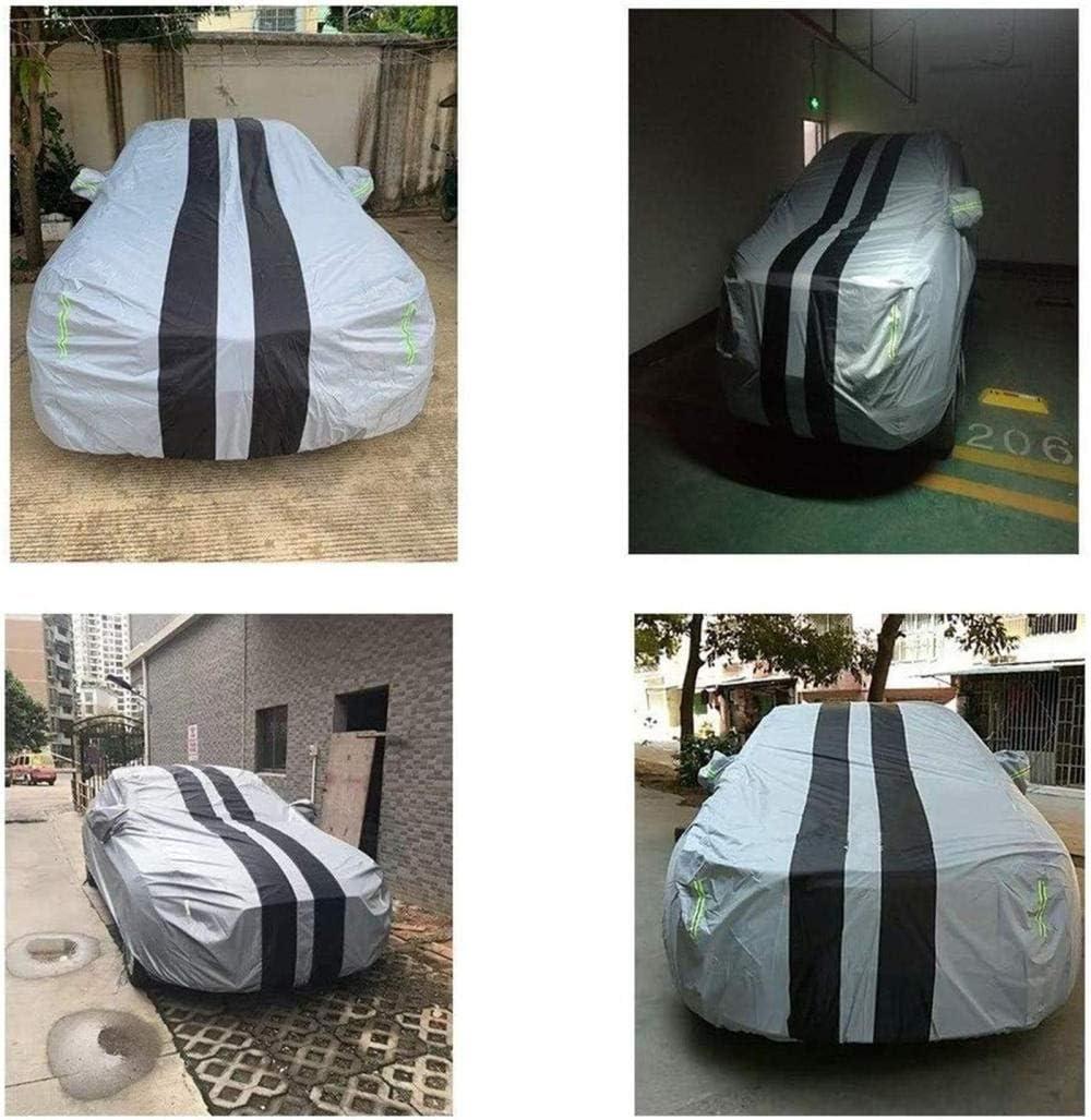 Gugb Couverture de Voiture Compatible avec Fiat 595 Abarth Couverture ext/érieure compl/ète Respirant Int/érieur//Ext/érieur Couverture Automatique /Étanche//Coupe-Vent//Antipoussi/ère//R/ésistant aux Rayure