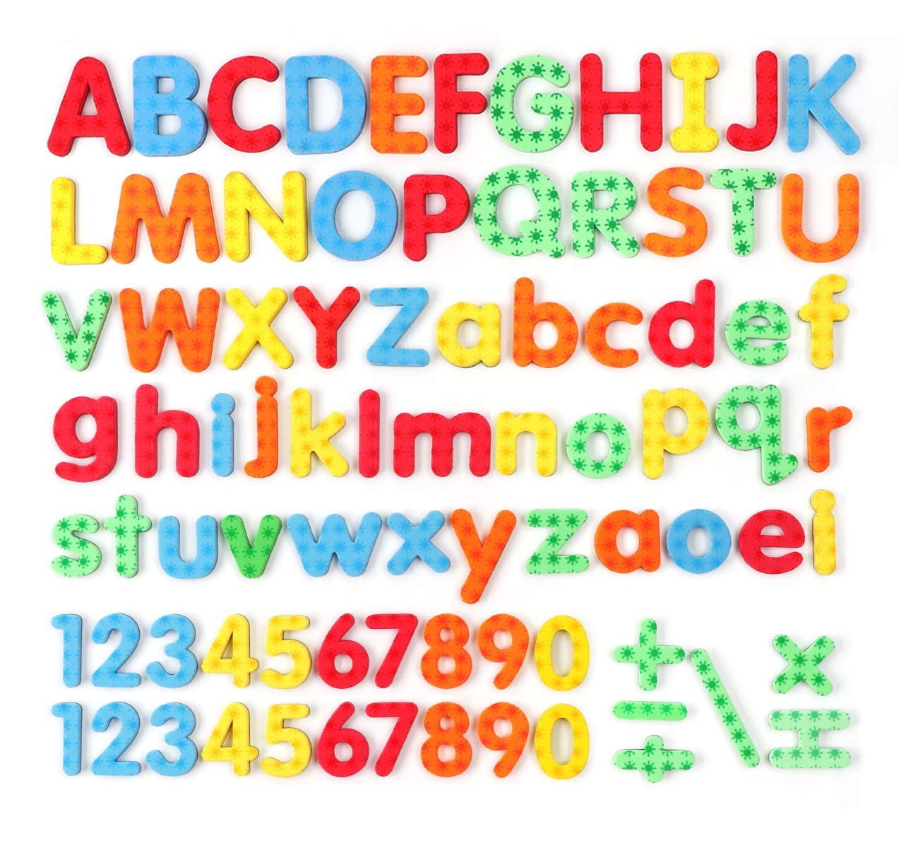 82 Pcs ABC Foam Magnetic Alphabet Letters and Numbers for Fridge Assorted Colors Educational Alphabet Refrigerator Magnets with Plastic Storage Container ilauke