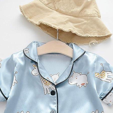 Gallity Newborn Toddler Boy Girl Homewear Pajamas Pjs Set Unisex Baby Boys Girls 2-Piece Cotton Pajama Sleepwear Nightwear Outfits Set Clothes 2-3 Years, Blue