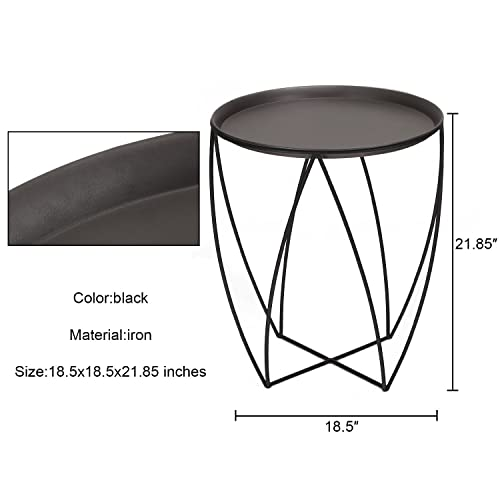 Joveco Side End Coffee Table Accent Nightstands Plant Stand Black