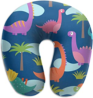 Rghkjlp Tree with Dinosaur Indoor/Outdoor U-Shaped Neck Pillow Travel Sleeping Soft Pillows