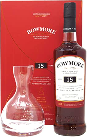 Bowmore - Glass Decanter Gift Pack - 15 year old Whisky: Amazon.es ...