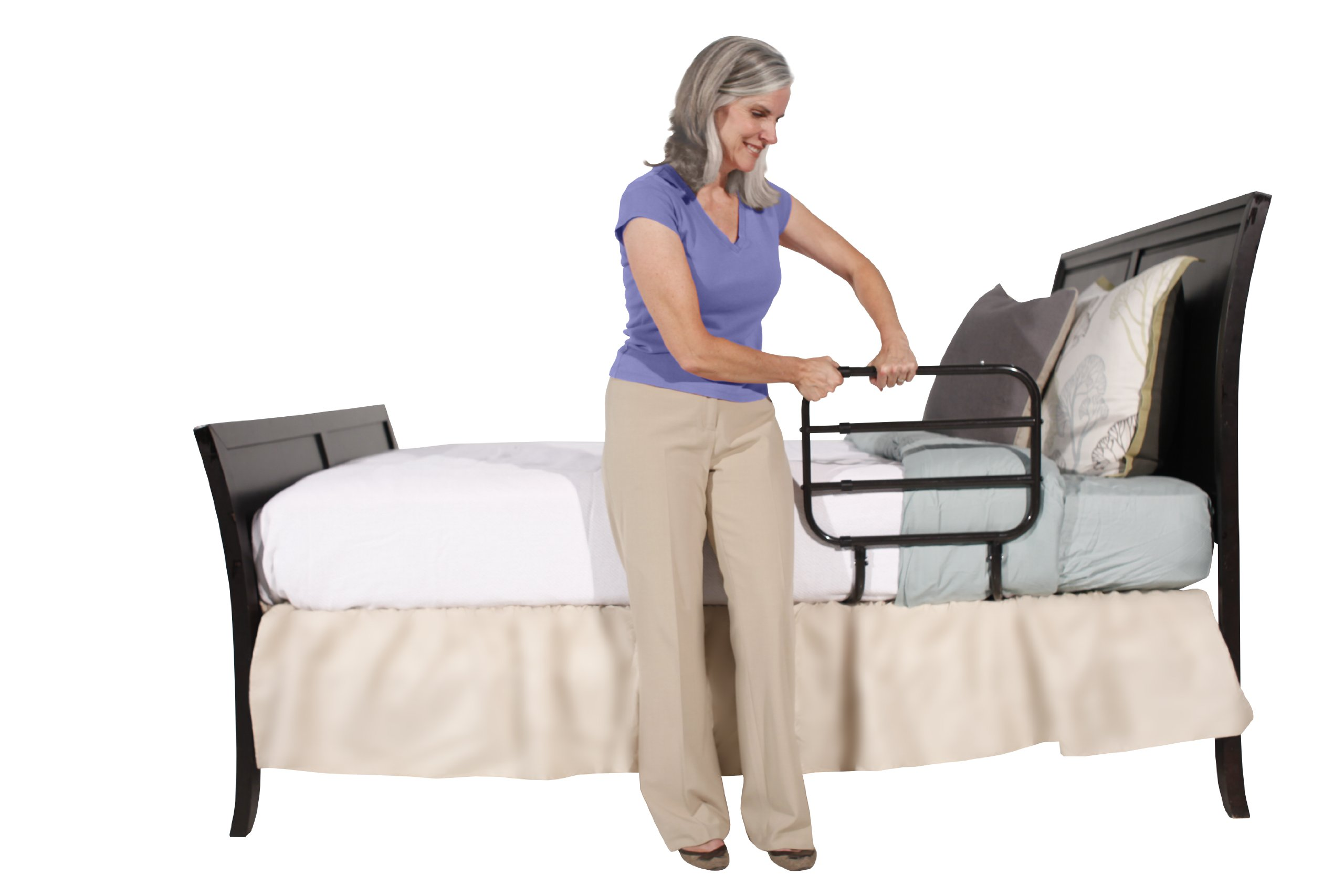 Able Life Bedside Extend-A-Rail - Adjustable Adult Home ...