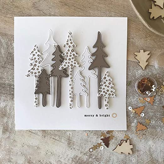 New** Christmas Tree Cutting Die Stencil,Metal,Craft,Card Making,Xmas,Star,Gift