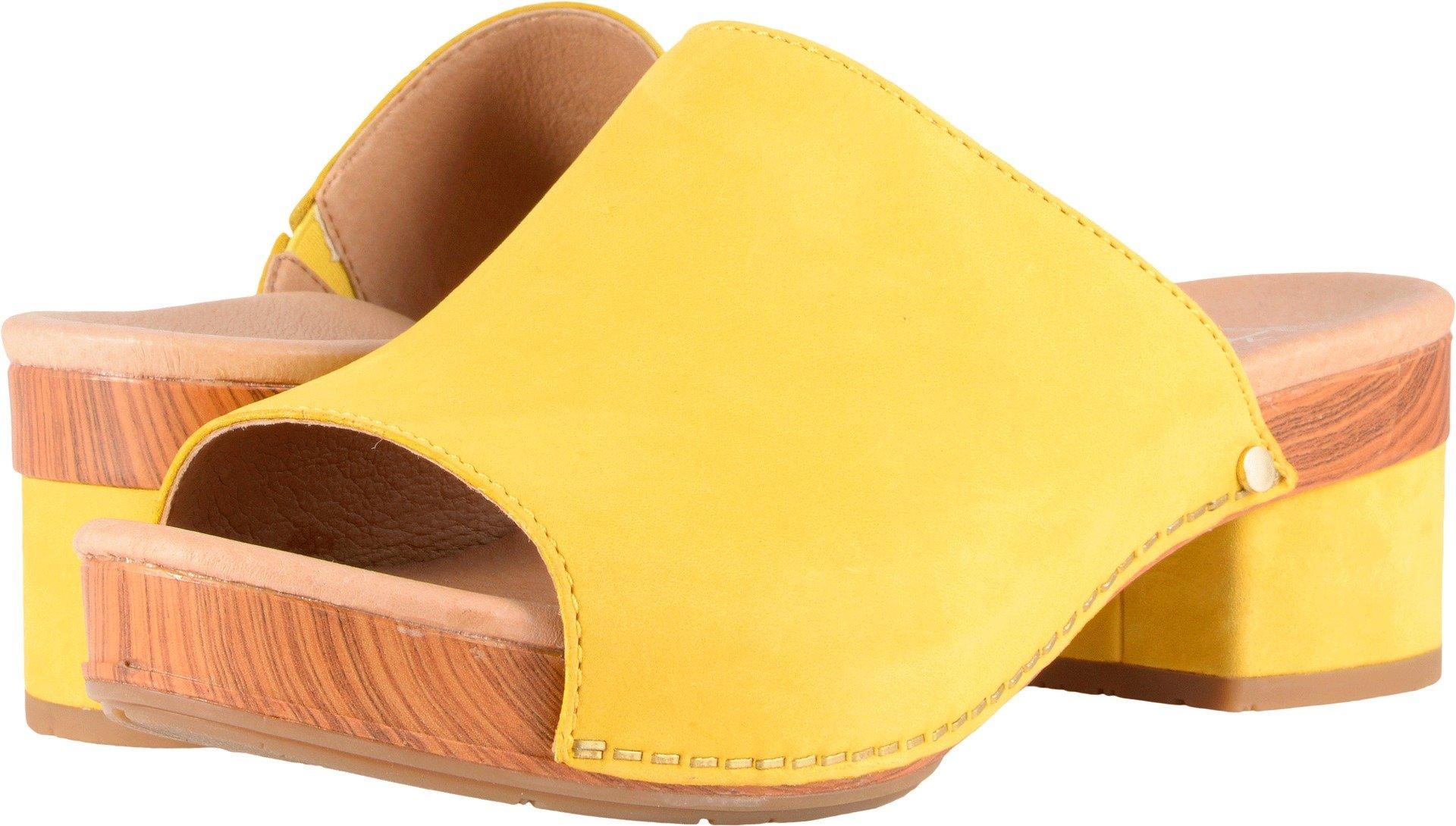 Dansko Women's Maci Sandal Yellow Milled Nubuck Size 39 EU (8.5-9 M US Women)
