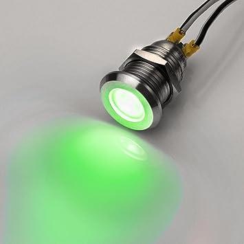 Bevorzugt Metzler-Trade LED-Kontrollleuchte - V2A Edelstahl - AC/DC 6V-24V FG96
