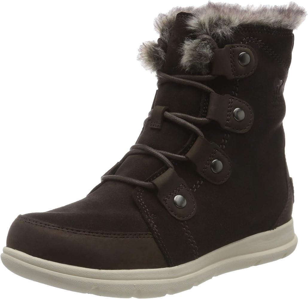 Sorel Explorer Joan Womens Brown Waterproof Warm Winter Walking Snow Boots