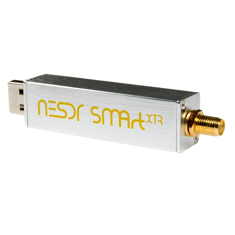 NooElec NESDR SMArt XTR Bundle recinto de aluminio Radio Definida por Software RTL2832U y E4000 0,5PPM TCXO Premium RTL-SDR con rango de ajuste extendido entrada SMA y 3 antenas