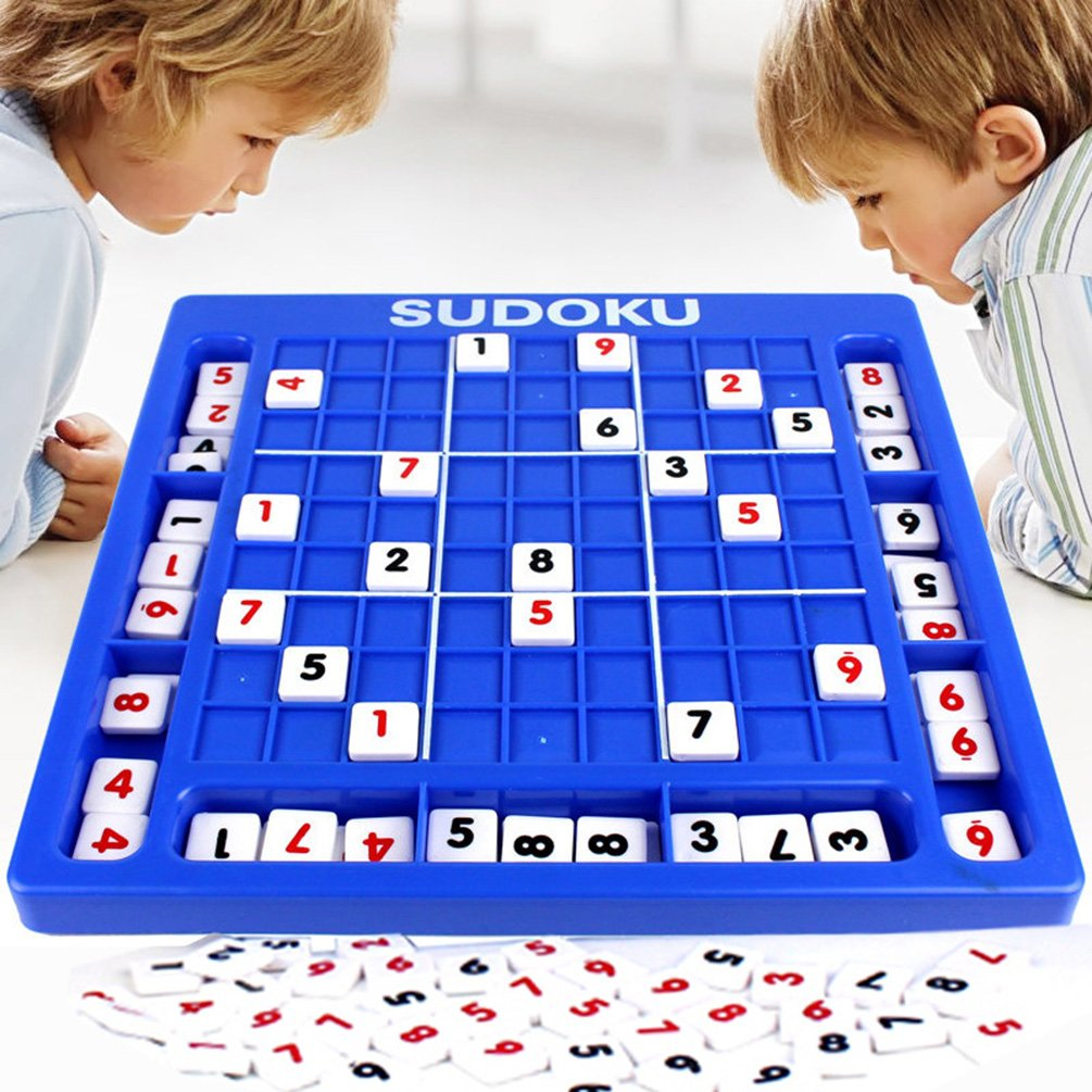 YUYUGO Sudoku Puzzles Sudoku Games Board 81 Digital Blocks With Booklet of 60 Board Game Models With Different Difficulties,Brain Educational Games for Kids