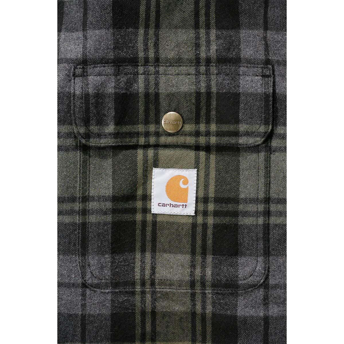 Carhartt Jacket Hubbard Shirt Point de Riz