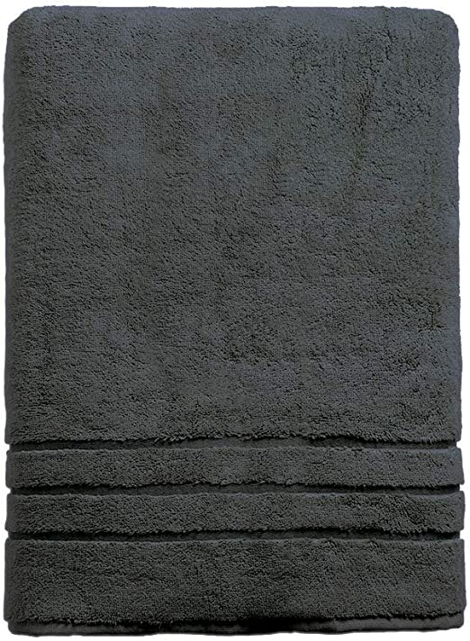 White Cariloha Bamboo Bath Towel Highly Absorbent Odor Resistant