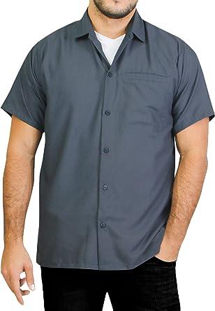 HAPPY BAY Camisa Hawaiana de Manga Corta con Botones para Hombre, Bolsillo para Playa Aloha