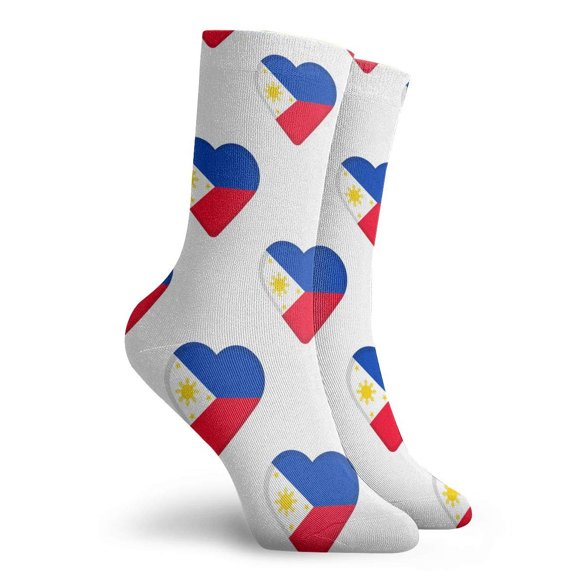 Adult Flag Of Philippines Pattern Athletic Ankle Socks