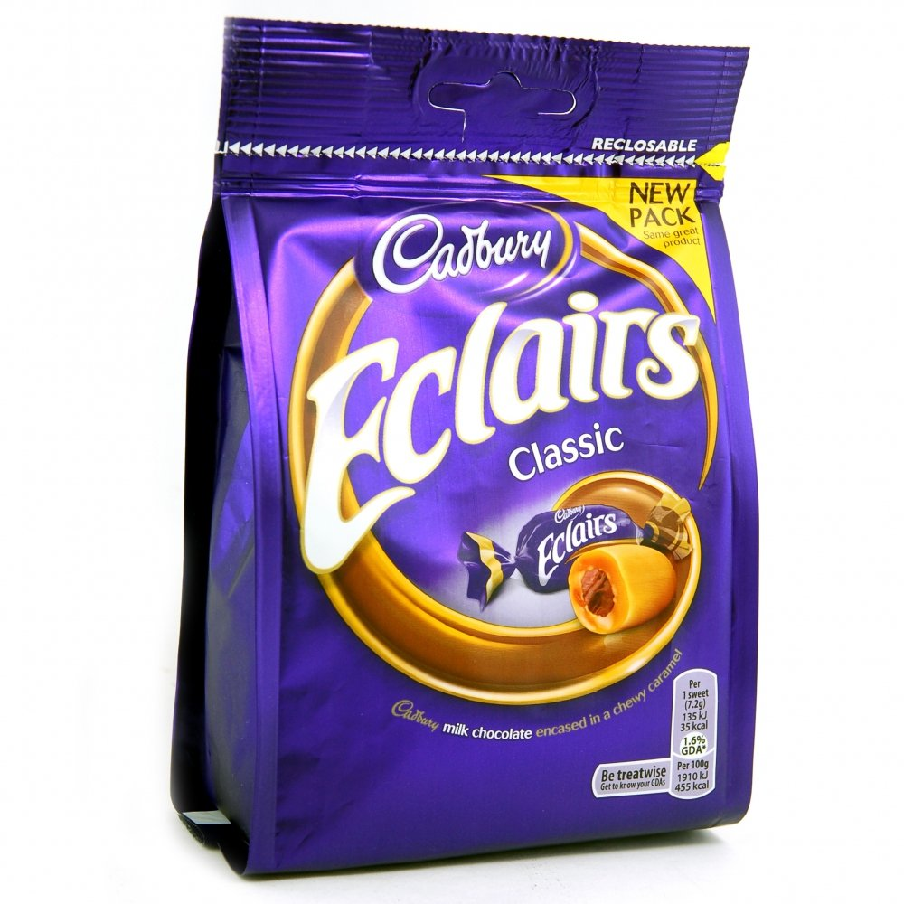 Original Classic Cadbury Chocolate Eclairs Imported from the UK, England