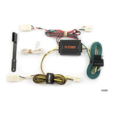 CURT 55580 Vehicle-Side Custom 4-Pin Trailer Wiring Harness for Select Toyota Sienna: Automotive