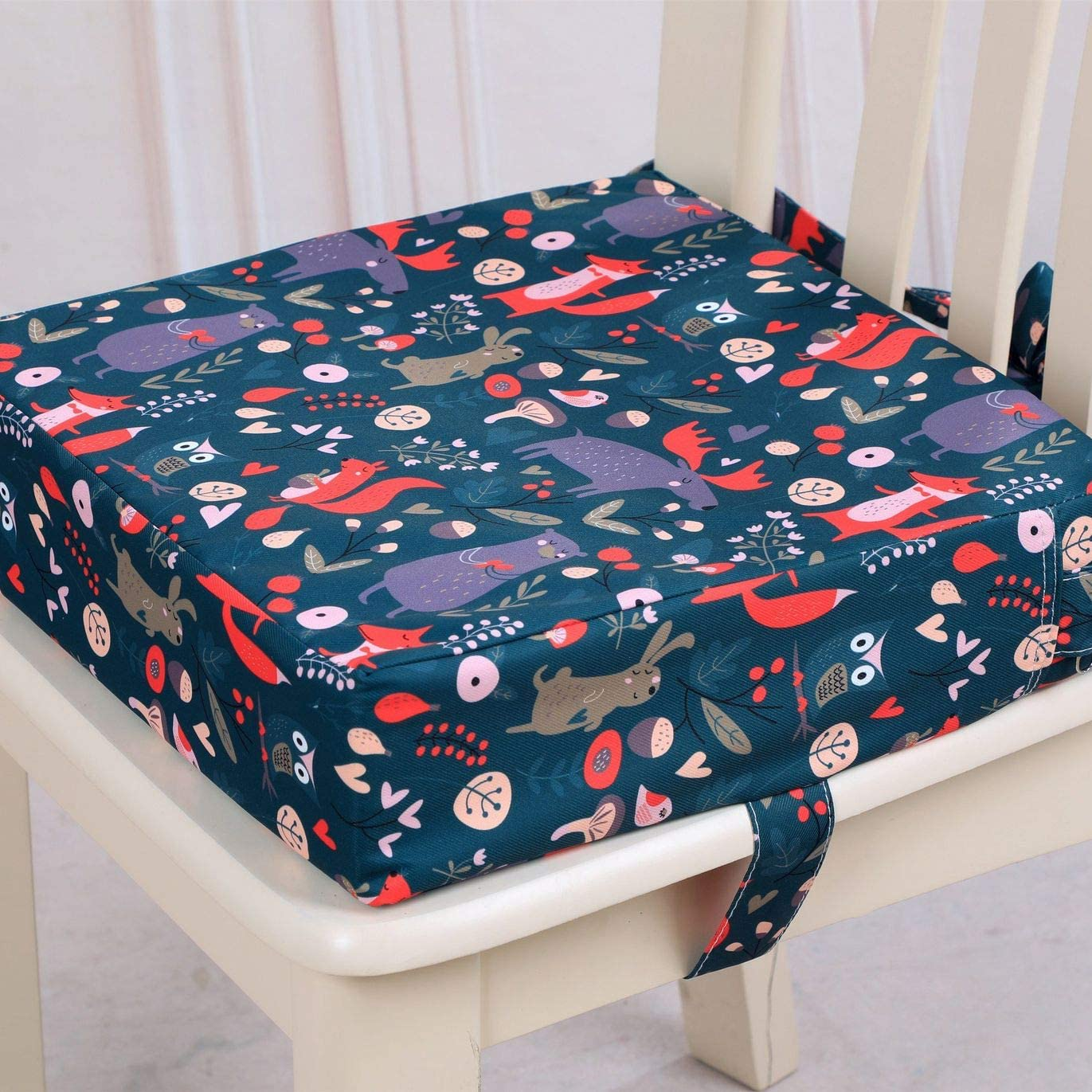 PQZATX Children Increased Chair Pad Baby Dining Cushion Adjustable Removable Highchair Chair Booster Cushion Seat Chair
