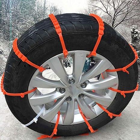 GSYDXL 10 Unidslote Mini Coche Universal Ruedas Neumático Invierno Plástico Cadenas de Nieve para automóviles/