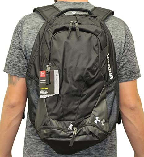 Amazon.com  Under Armour Hustle III Premium Backpack - Black  Sports ... af2e42ccd0af1