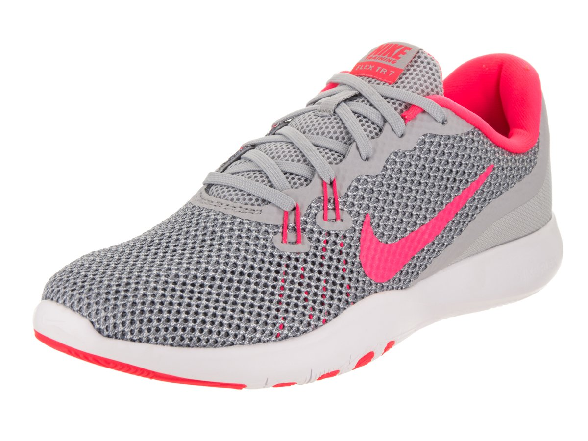 aaea12fdda624 Galleon - Nike Women s Flex Trainer 7 Wolf Grey Racer Pink Stealth Training  Shoe 6.5 Women US